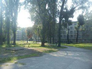 Ulaz u domski kompleks Stjepan Radić sa strane Horvaćanske ulice