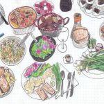 05.04Uskršnji ručak-jaja mlinci mladi luk, sirevi, kava kolači, tofu, rotkvice, gulaš od gljiva