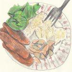 2.7 pohane tikvice,mahune, riža, salata